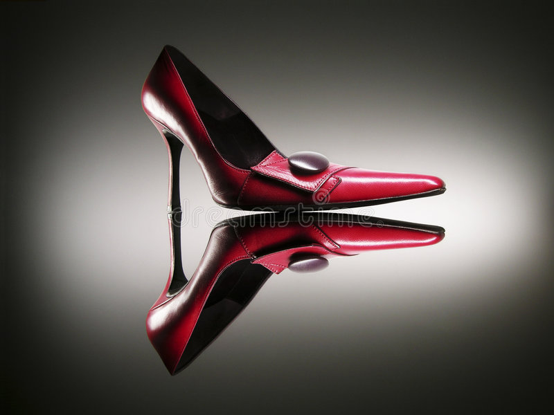 Red high heels royalty free stock images