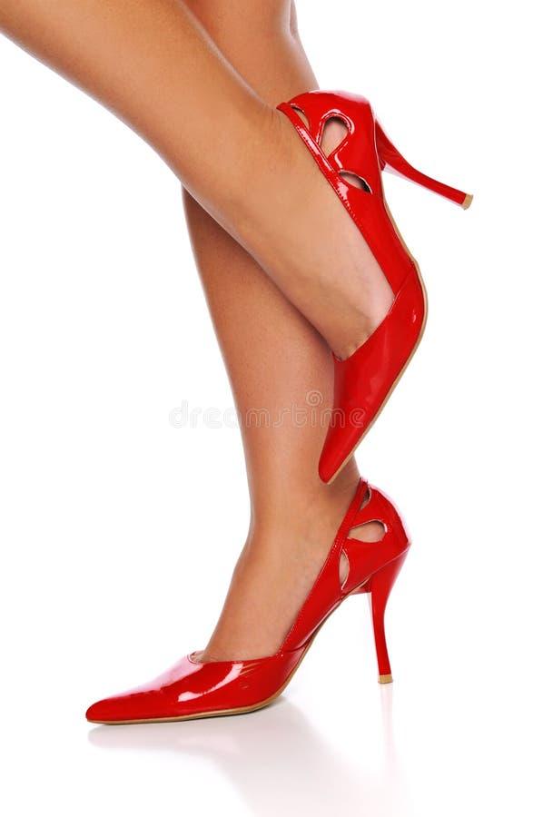 Download Red high heels stock image. Image of footwear, curves - 9322471