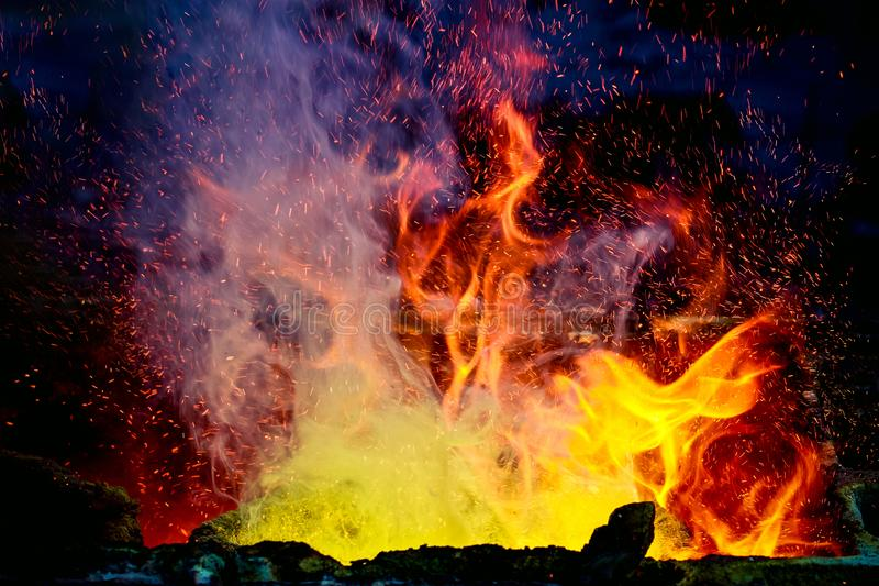 Red high temperature fire. royalty free stock photos