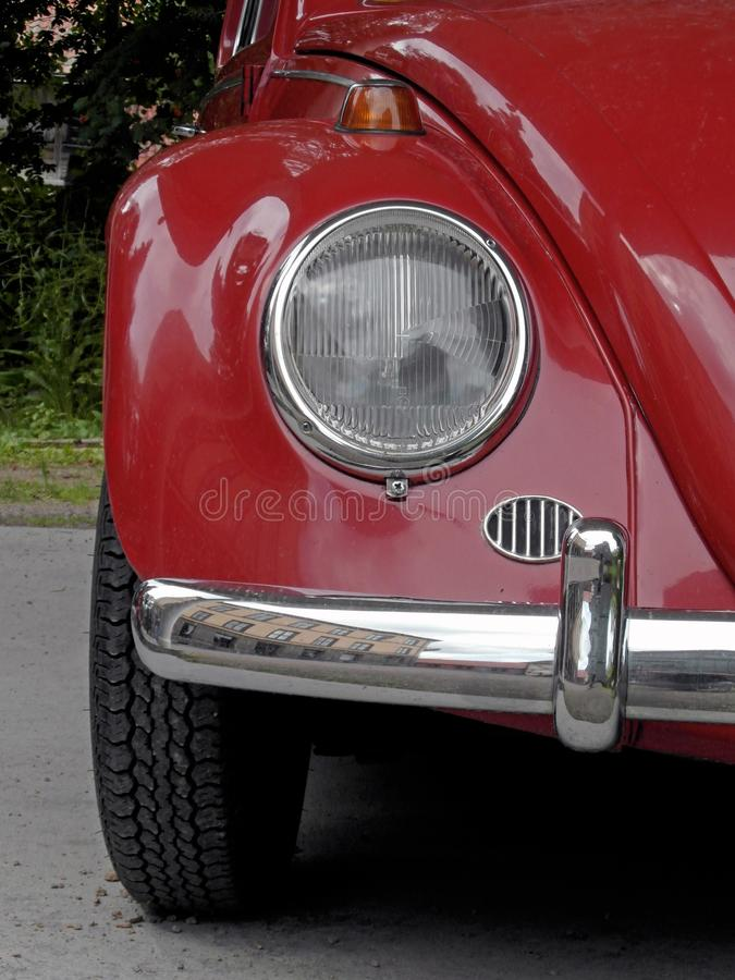 Download Red historical car stock image. Image of classic, dark - 25143925