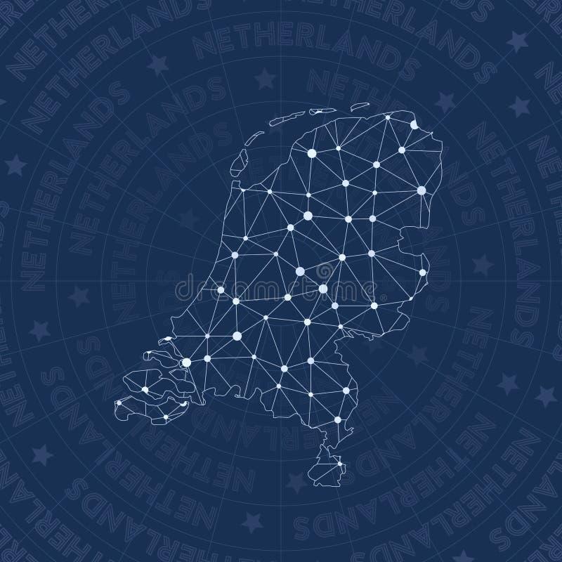 Red holandesa, país del estilo de la constelación libre illustration