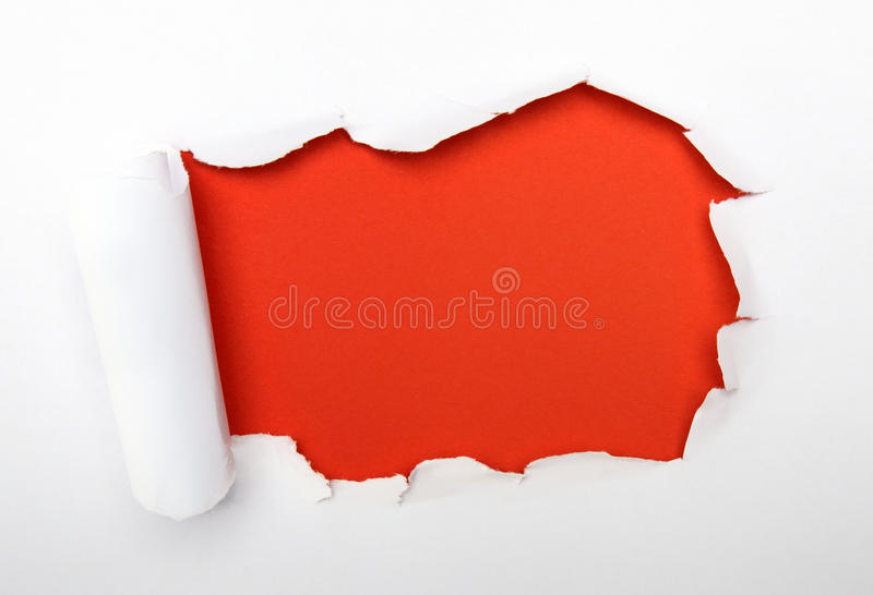 Red hole royalty free stock image