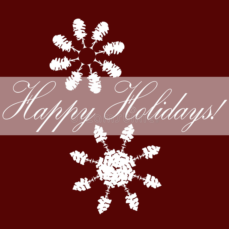 Download Red Holiday Card stock vector. Image of snowflakes, environmental - 6662573