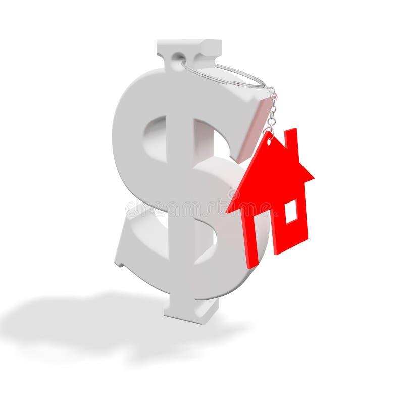 Red_home_dollar vector illustratie