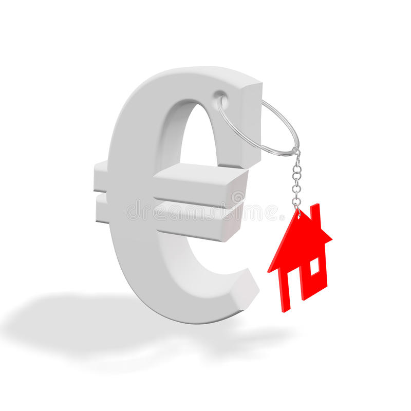 Red_home_euro vector illustratie