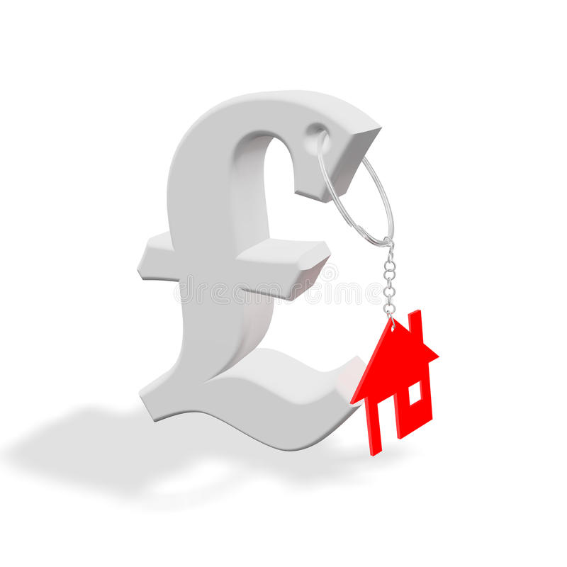 Red_home_pound royalty-vrije illustratie