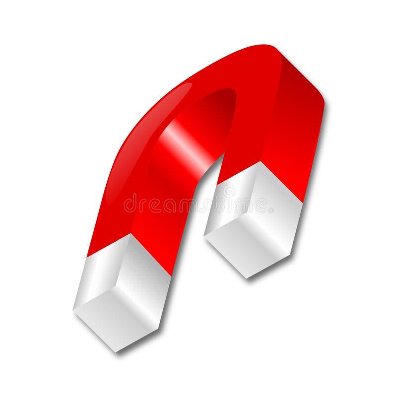Download Red horseshoe magnet stock illustration. Image of object - 27383897