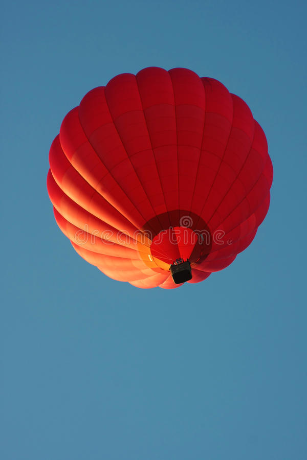 Red hot air balloon stock photography