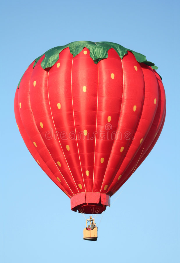 Download Red Hot Air Balloon stock photo. Image of color, solid - 2492880