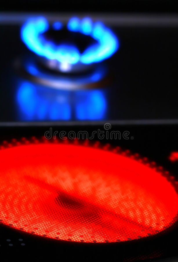 Red Hot Ceramic Stove Electric Cooker And Royalty Free Stock Image