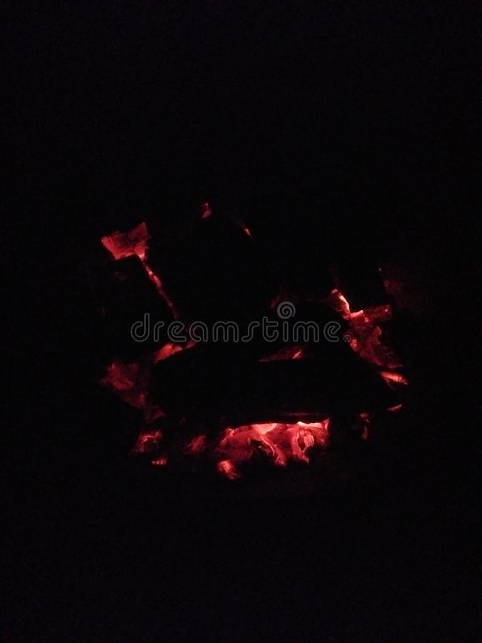Red-hot charcoal royalty free stock images