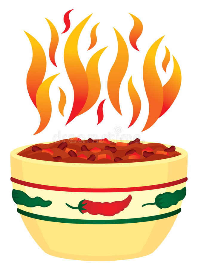 Free Red Hot Chili In Bowl With Fla Royalty Free Stock Photo - 4951095
