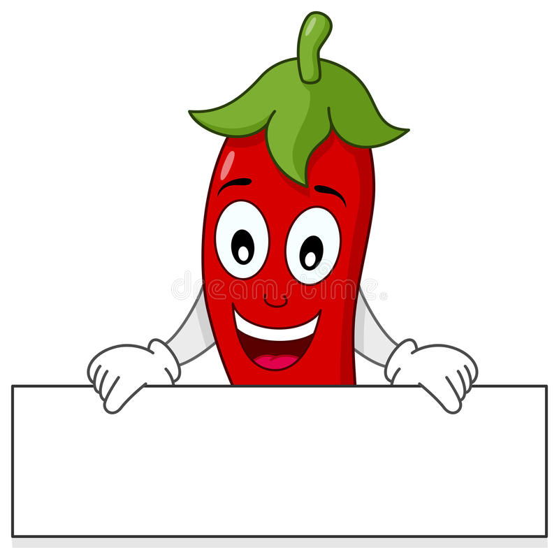 Free Red Hot Chili Pepper Holding Banner Royalty Free Stock Photos - 50382598