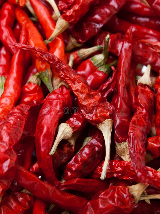 Red hot chili peppers. Background stock images