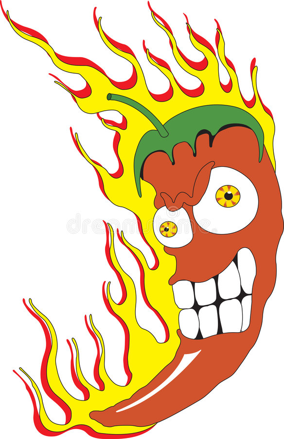 Download Red hot chili peppers stock vector. Illustration of mexican - 6038256