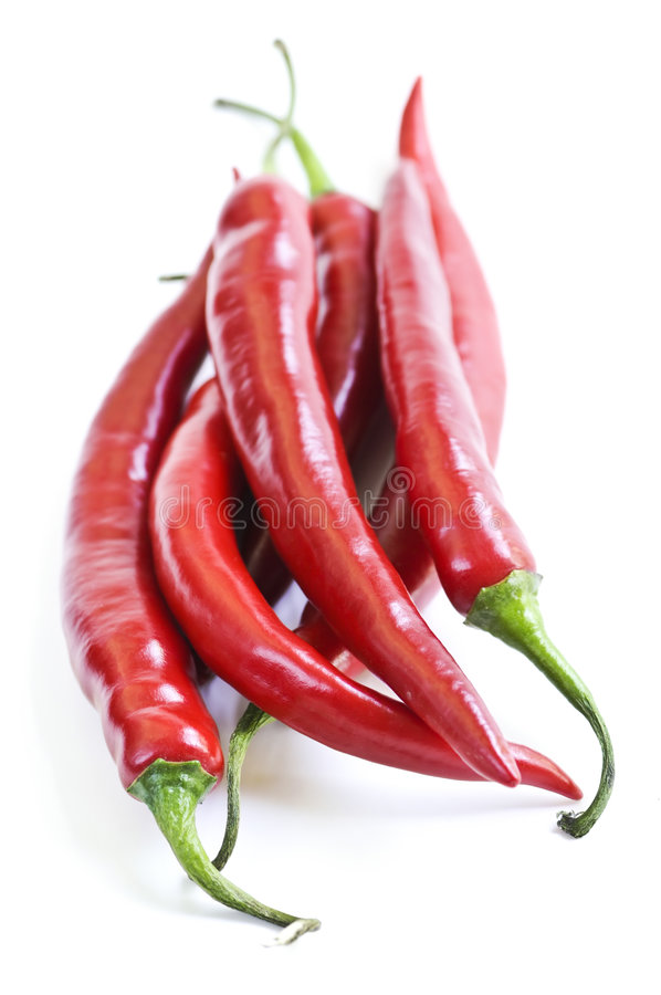 Red hot chili peppers stock photo