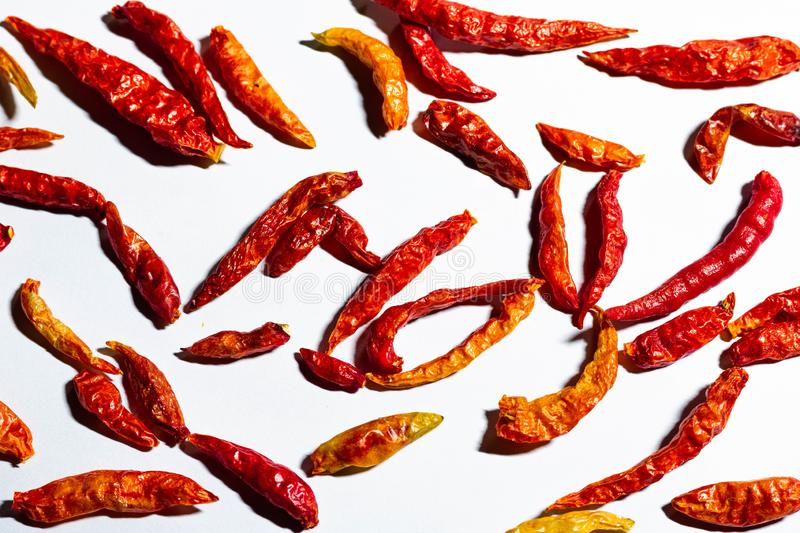 Red hot chili peppers background. royalty free stock images