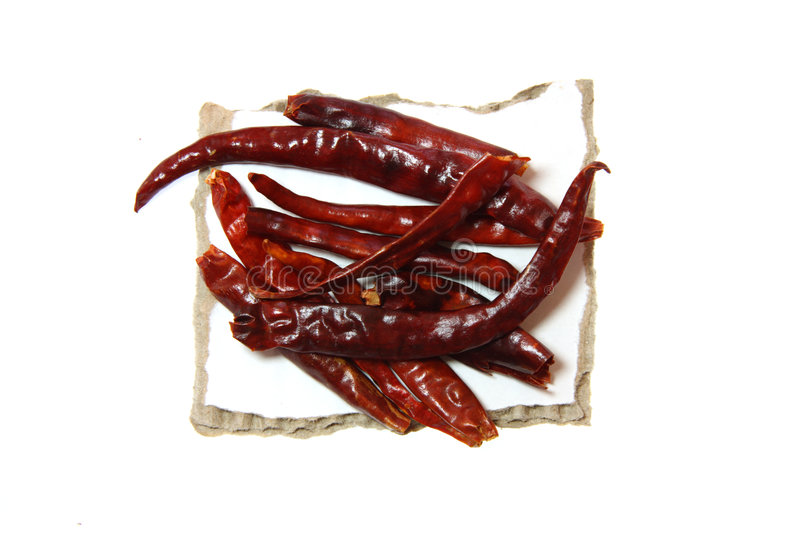 Red Hot Chilli pepper on paper royalty free stock image