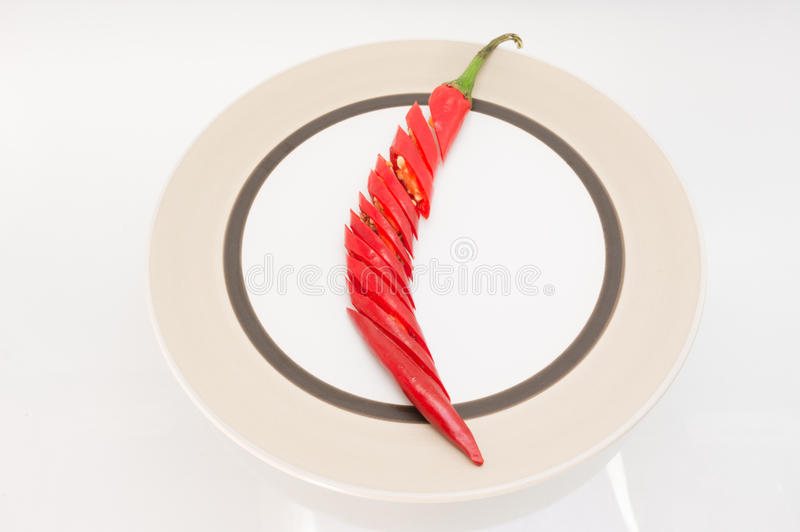 Red hot chilli peppers. Red chilli peppers on a white background royalty free stock images