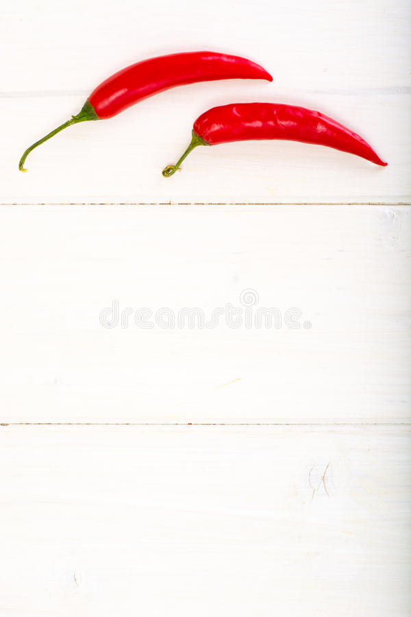 Red hot chilli peppers. On White. Studio Photo royalty free stock photo