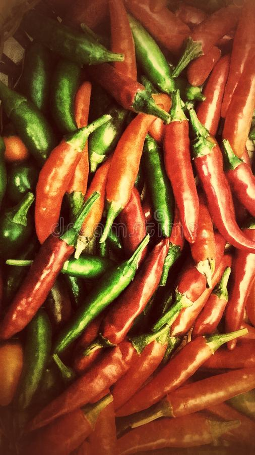Red hot chilly pepper stock photos