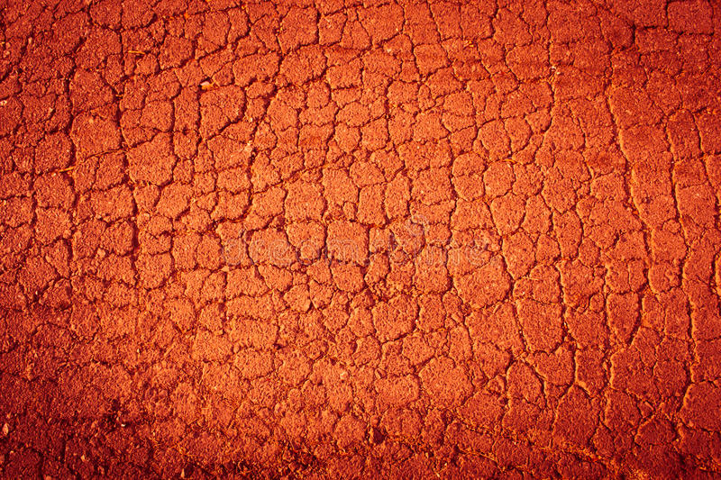 Red Hot Cracked Ground Textured Background royalty free stock image