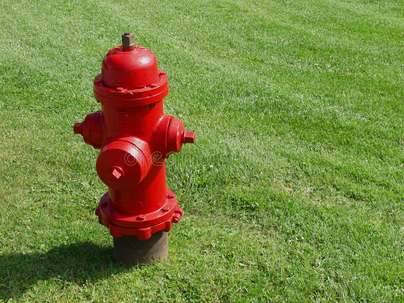 Red Hot Fire Hydrant stock photography