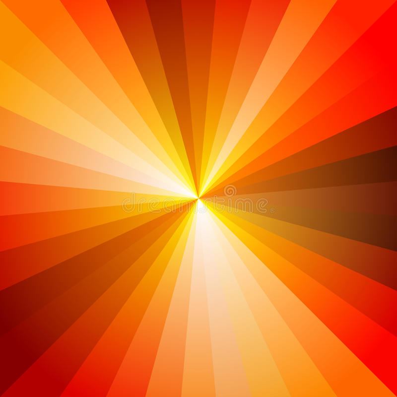 Red Hot Light Ray Abstract Background stock illustration