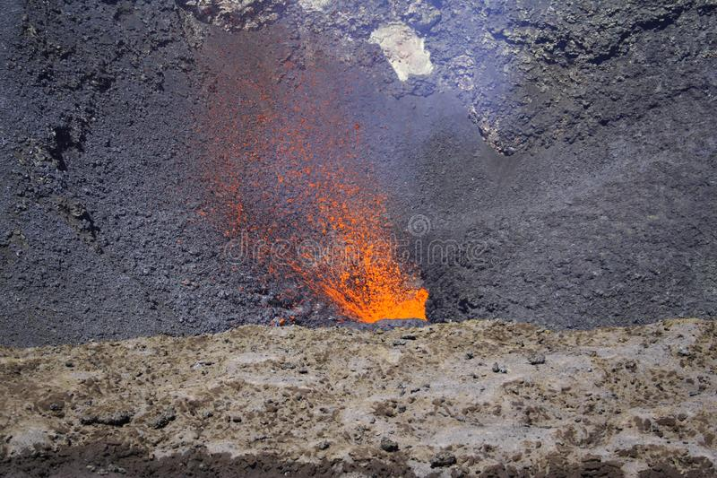 Red Hot Magma stock image