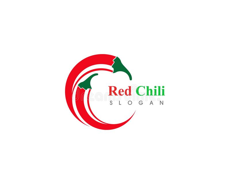 Red hot natural chili icon Template vector Illustration. Food, spicy, cooking, pepper, vegetable, fresh, spice, chilli, organic, mexican, ripe, isolated stock illustration