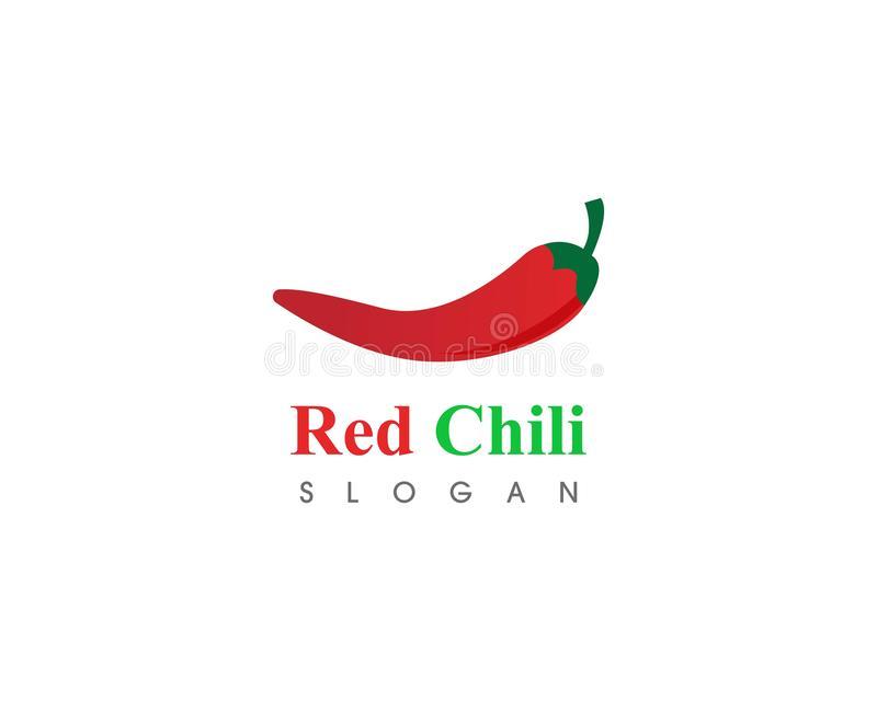 Red hot natural chili icon Template vector Illustration. Food, spicy, cooking, pepper, vegetable, fresh, spice, chilli, organic, mexican, ripe, isolated royalty free illustration