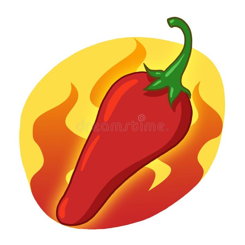 Download Red Hot Pepper Illustration Stock Illustration - Image: 19566502