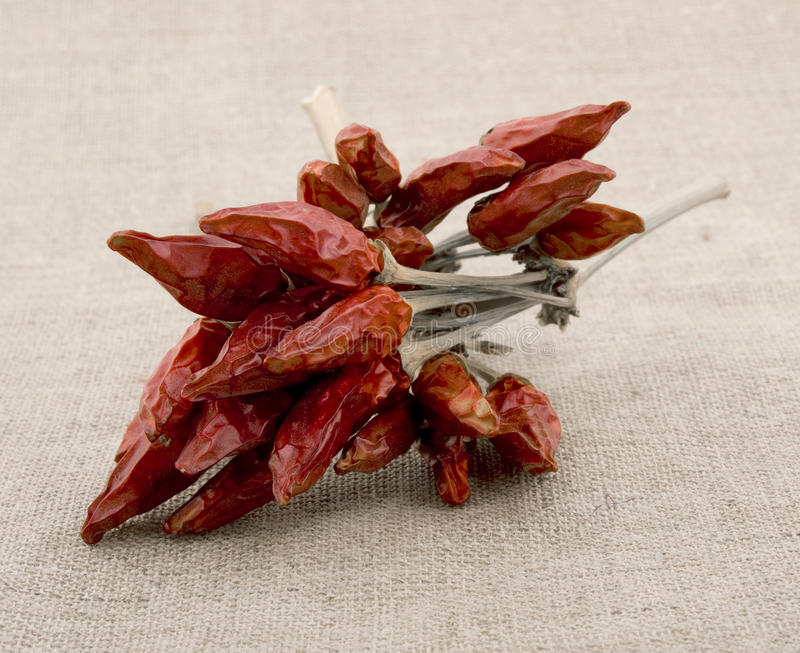 Download Red Hot Pepper On Linen Background Stock Image - Image: 14668669