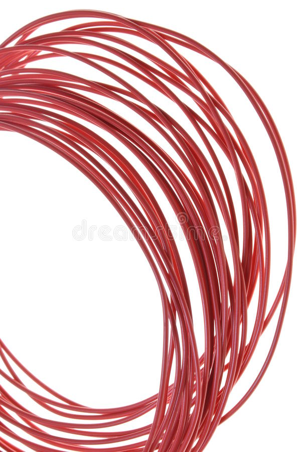 Download Red hot power cable stock image. Image of isolated, abstract - 25243813