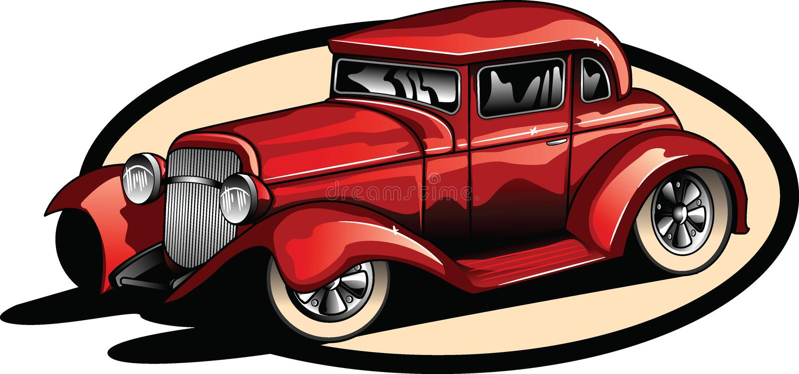 Red hot rod. royalty free stock photo