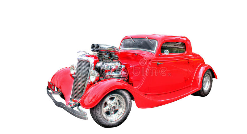 Red Hot Rod Isolated On White Background Editorial Photography