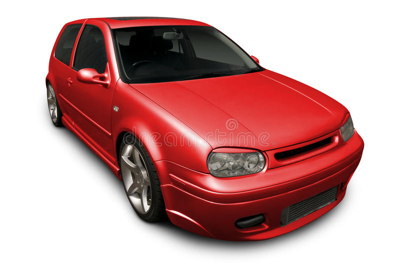 Red Hot VW Hatchback Royalty Free Stock Image