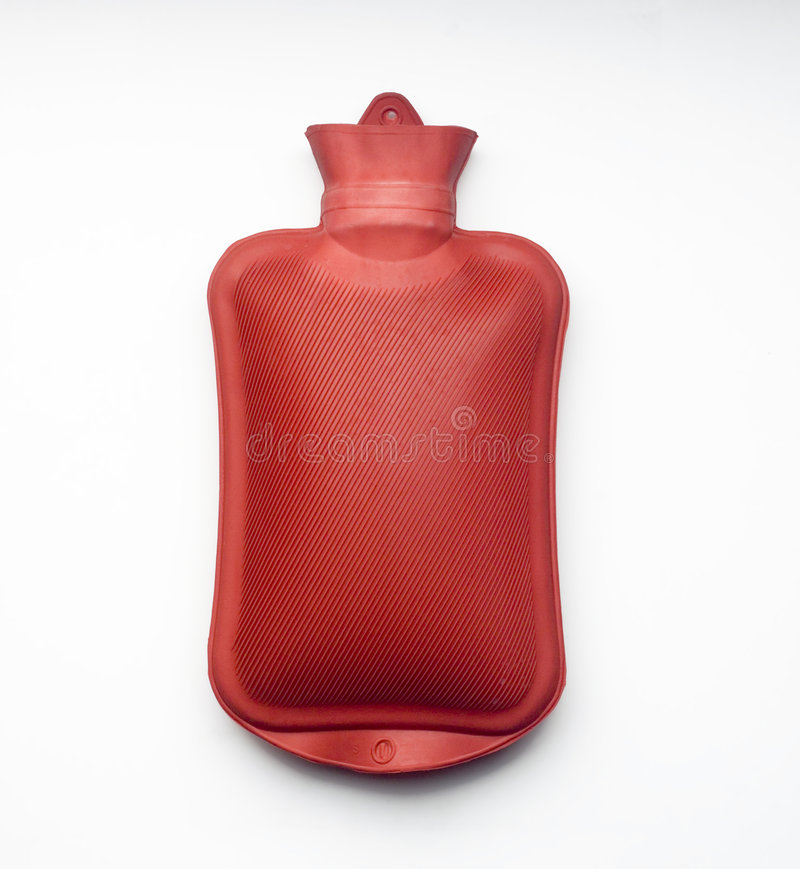 Red Hot Water Bottle Royalty Free Stock Images