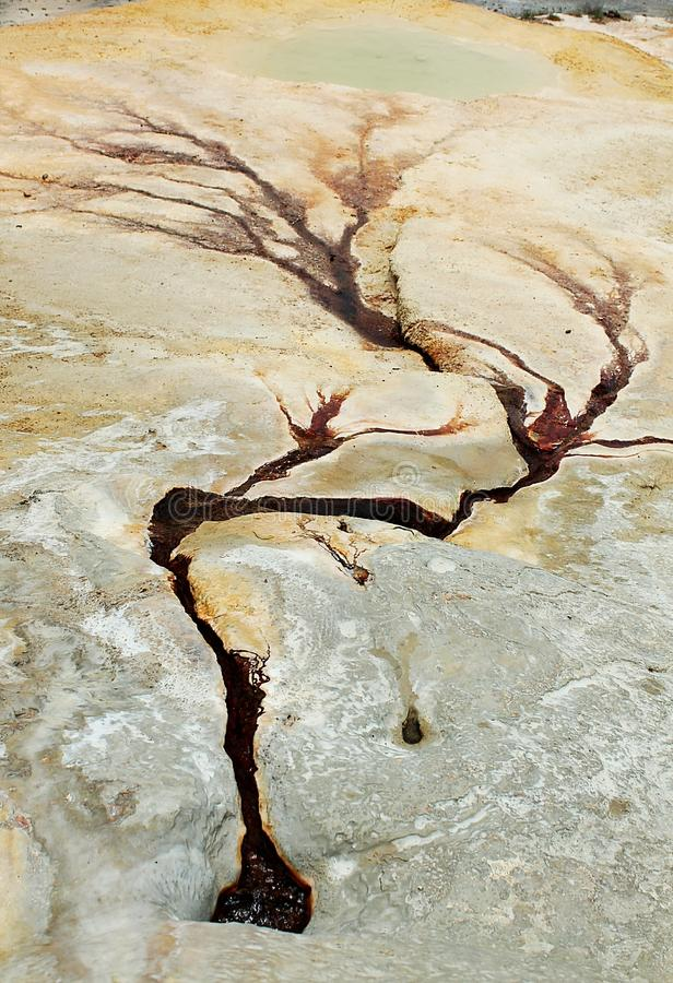 Red hotsprings of Badab-e Surt in northern Iran stock image