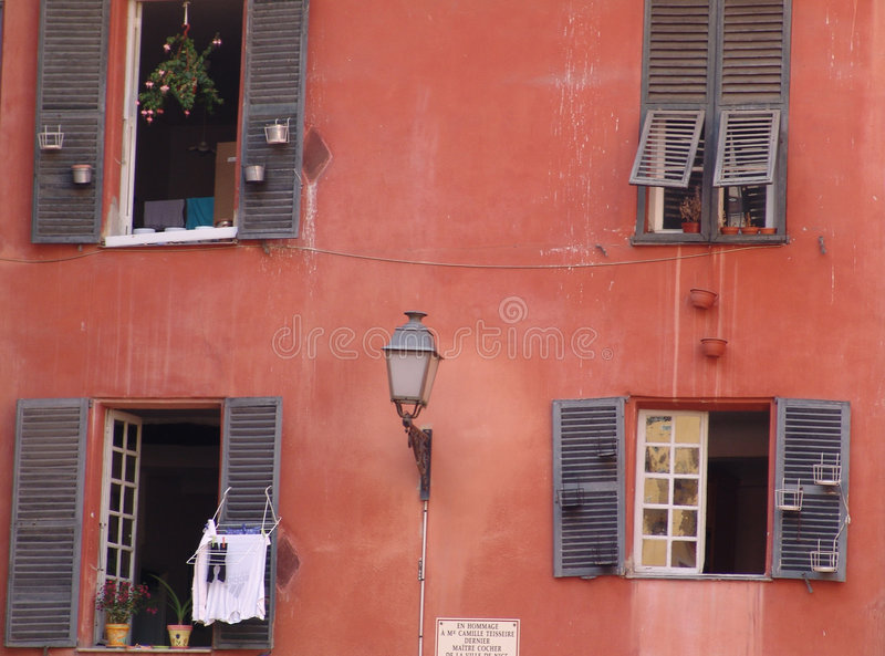 Download Red house stock image. Image of architecture, clothesline - 14921