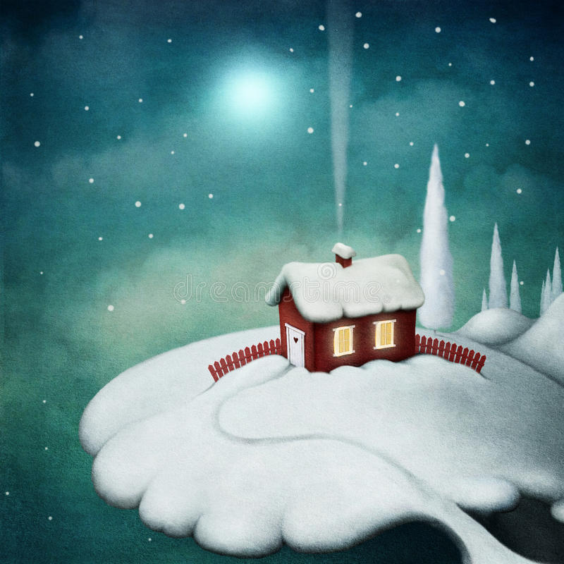 Red House royalty free illustration
