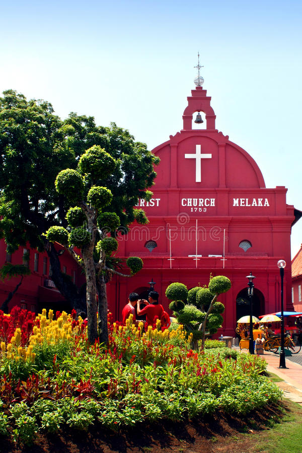 Free Red House Christ Church In Malacca Stock Photography - 14873792