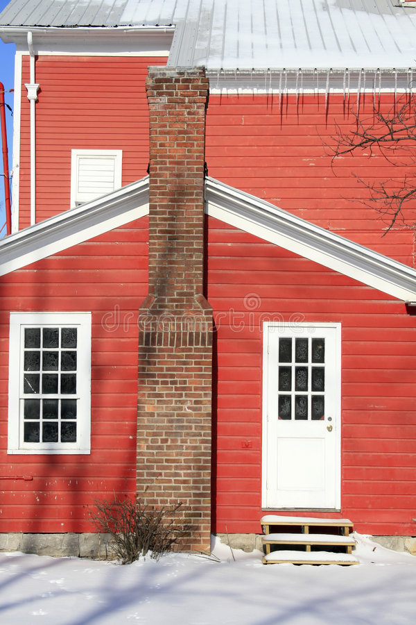 Download Red House Covered In Snow, Winter Stock Images - Image: 7221914