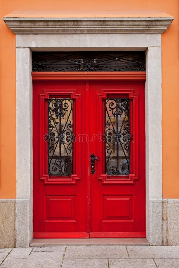 Perfect Download Red House Door Stock Photo   Image: 51040900