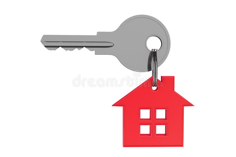 Red house with key. On a white background vector illustration