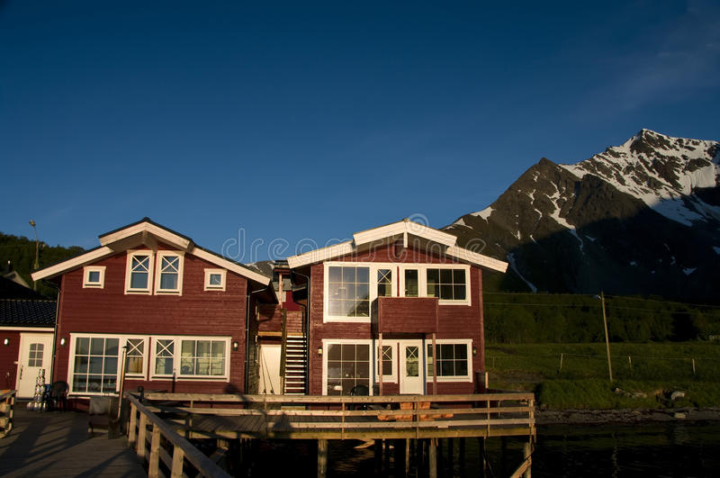Download Red Houses On Fjord Shoreline Stock Image - Image: 10101095