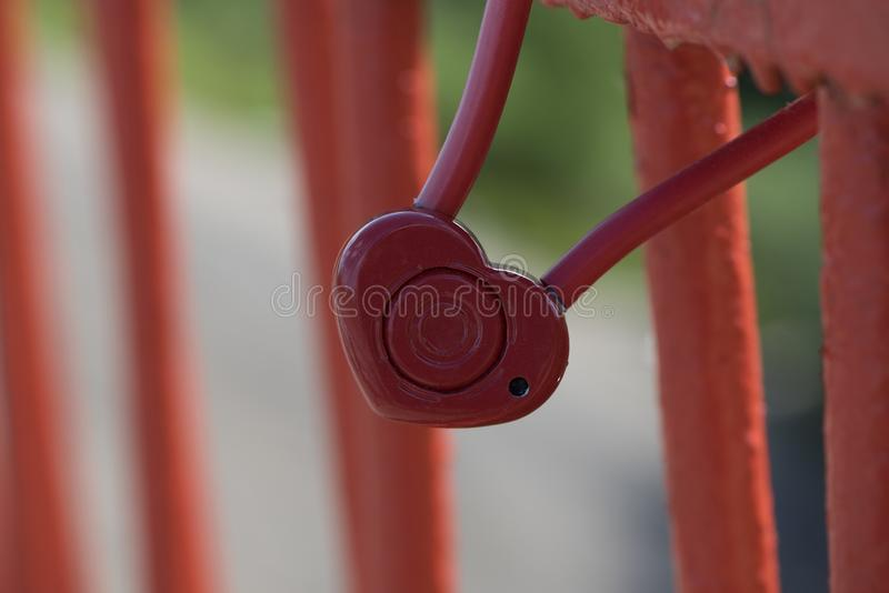 Red i wedding lock stock photography