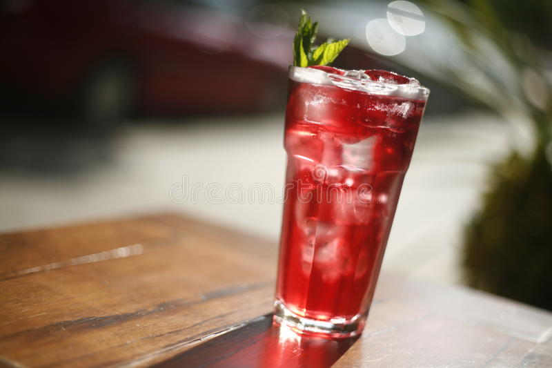 Download Red ice tea stock image. Image of cold, iced, cubes, appetizing - 24890909