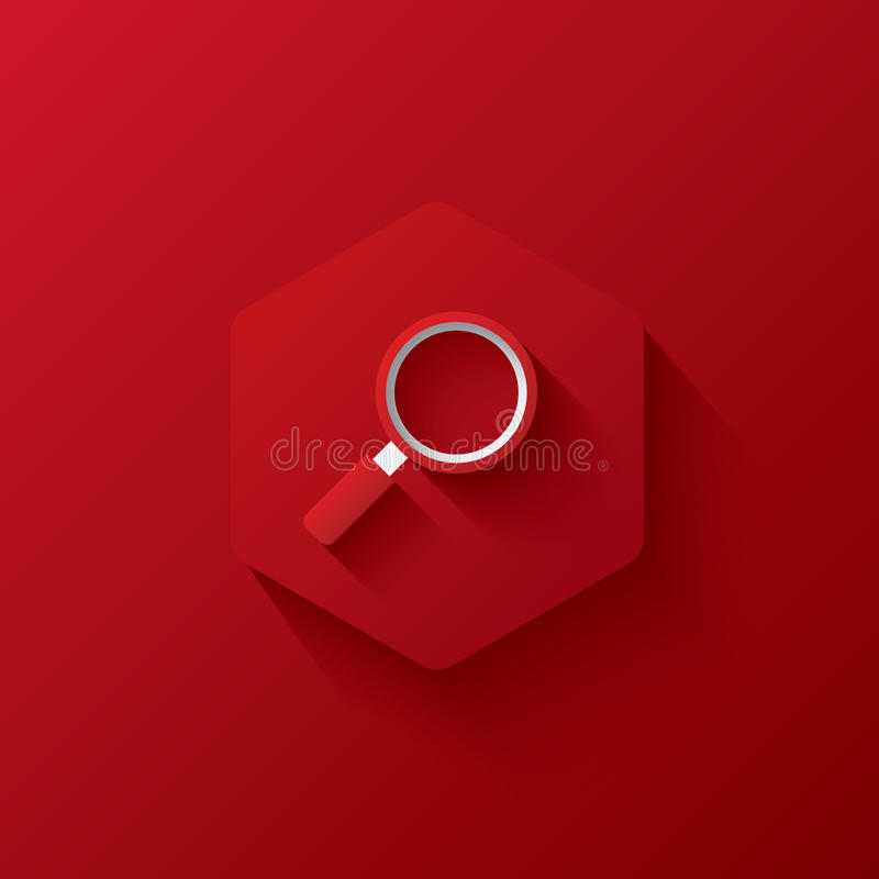 Red icon on red hexagon,marketing,Three-dimensional icon royalty free stock image