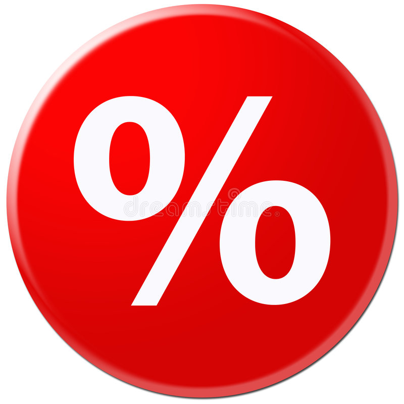 Red icon with symbol of rate vector illustration
